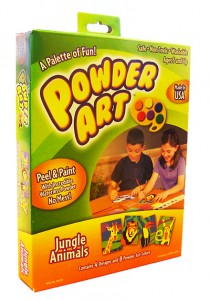 Crescent Cardboard Powder Art Jungle Animals Set