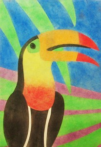 Crescent Cardboard Powder Art Jungle Animal Set Toucan